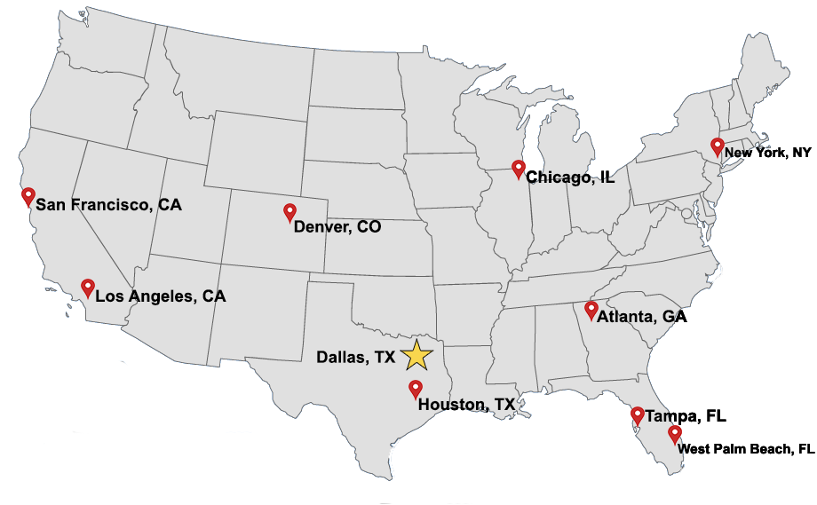 Pond, Robinson & Associates Locations Map